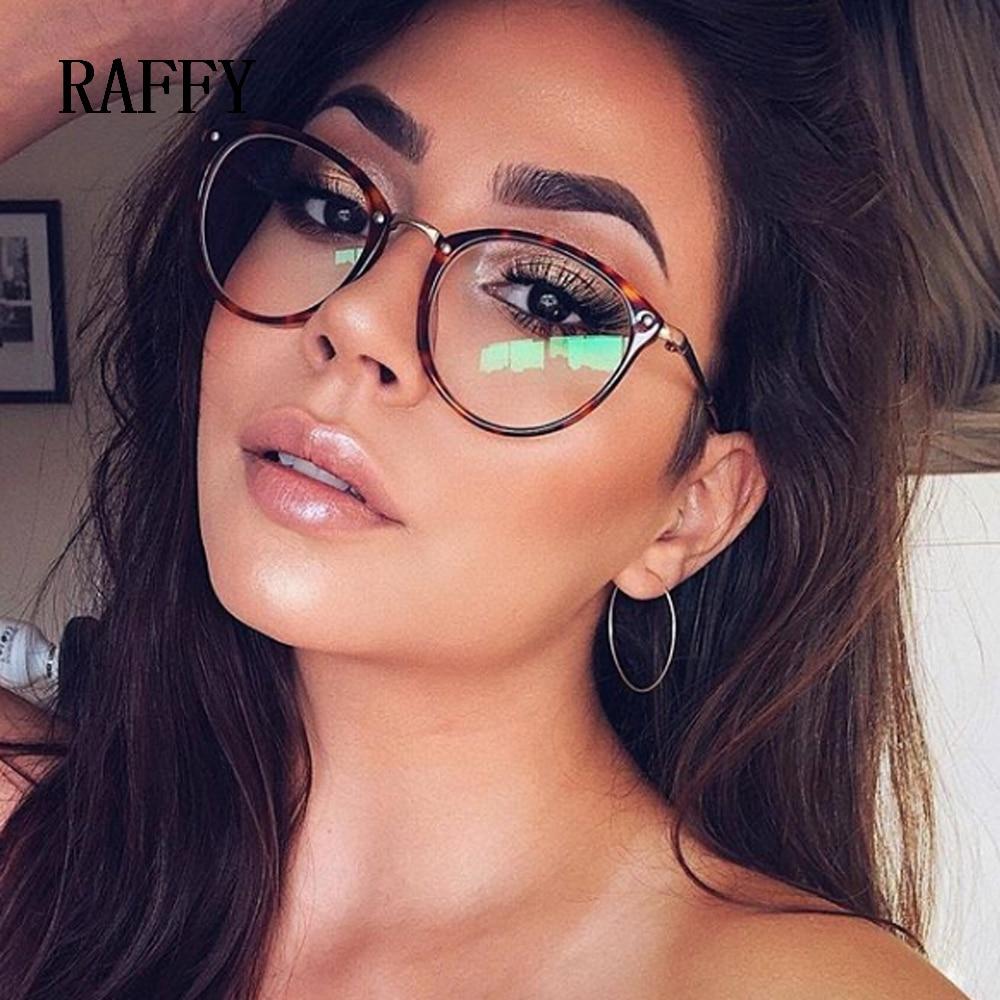 חדש עגול משקפיים מסגרת משקפי שחור בציר מתכת מסגרת אופטית משקפי קריאת נשים משקפיים מסגרות מרשם מסגרת