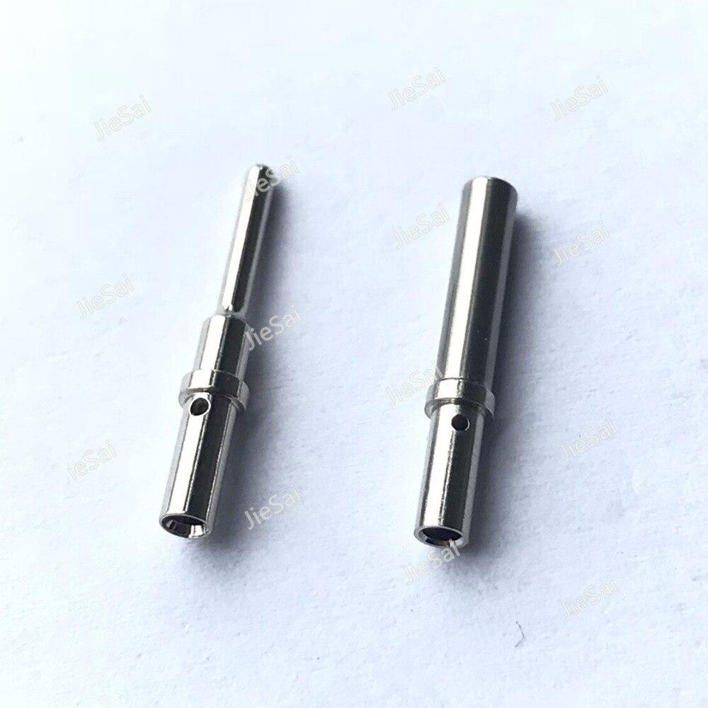50/100 Pcs Série DT Pin Contato 0462-201-16141 0460-202-16141 Aço Inoxidável Deutsch 16-20AWG Crimp Terminal Macho Fêmea Sólida