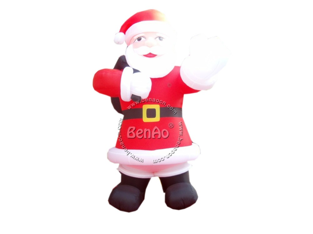 X077 5m high  inflatable giant christmas santa claus with blower freeshipping for advertising inflatable cartoon customized advertising giant christmas inflatable santa claus for christmas outdoor decoration