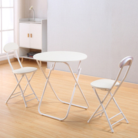 colorful simply Folding chair Round Table and Chair family dining outdoor BBQ chair training meeting table desk chair