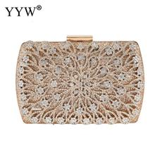 Box Evening Bags Diamond Rhinestone Jewelry Wedding Clutch Wallet Evening Clutch Bag Bolsa Women'S Purse Handbags Chain Shoulder xiyuan brand lady ethnic handmade gemstone diamond evening bag dinner clutch purse bridal clutch wedding chain shoulder hand bag