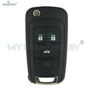 13500227 4 Knop HU100 Sleutelblad 434 Mhz voor Holden Chevrolet Cruze Vauxhall La Crosse Remtekey Autosleutelzakje Vervanging