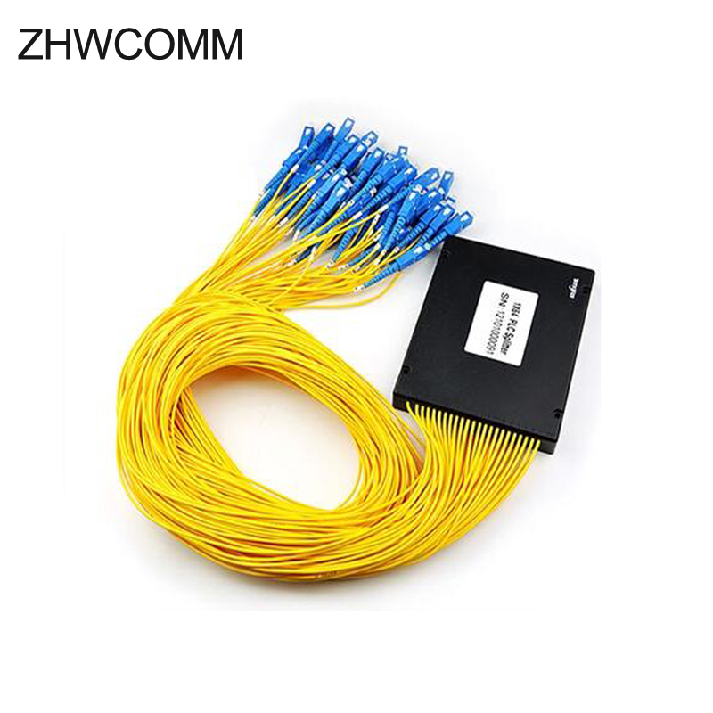 ZHWCOMM Haute Qualité 1 M SC 1X64 Fiber Optique splitter boîte SC/UPC Fiber Optique PLC Splitter livraison gratuite