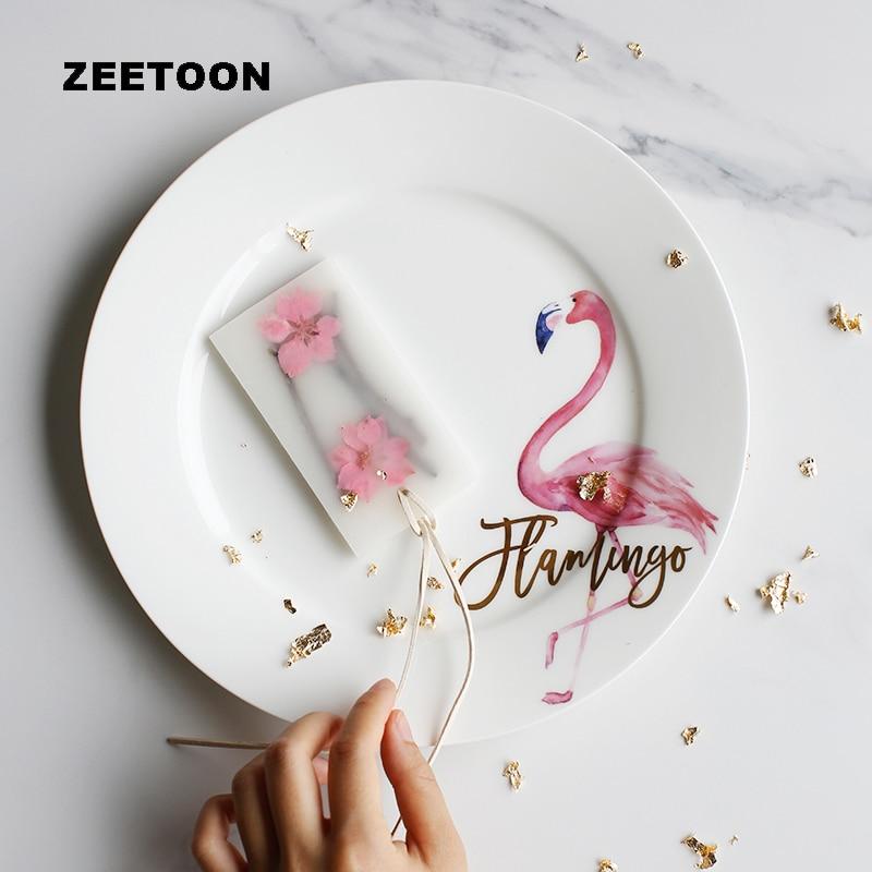 Assiette à dîner Flamingo 10 pouces en céramique os chine Steak Spaghetti assiettes rondes petit déjeuner plat gâteau fruits soucoupe Art de la table