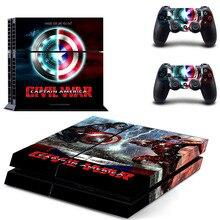 Captain America Civil War PS4 Skin Sticker Cover