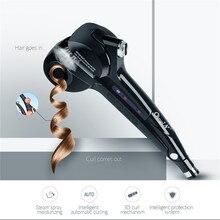 Автоматические женские паровые бигуди для волос керамические щипцы для завивки палочка Авто паровой спрей для завивки волос палочка для нагревания керамических больших волн Вэйвер