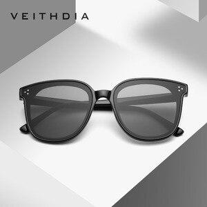 Image 1 - VEITHDIA lunettes de soleil unisexe, verres photochromiques polarisées, Vintage, pour hommes et femmes, V8510