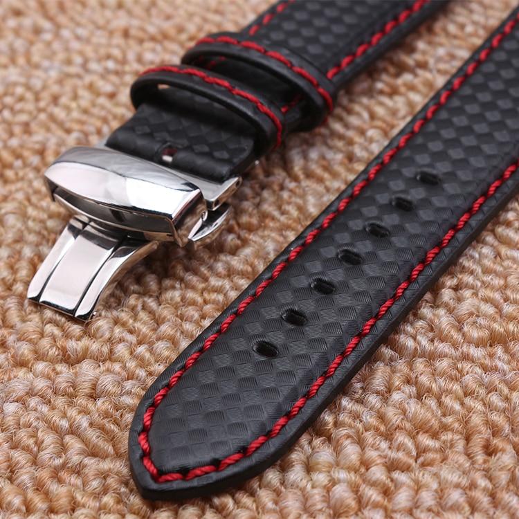 Pulseira de relógio 18mm 20mm 22mm 24mm Popular Red Costura tecido - Acessórios para relógios - Foto 2