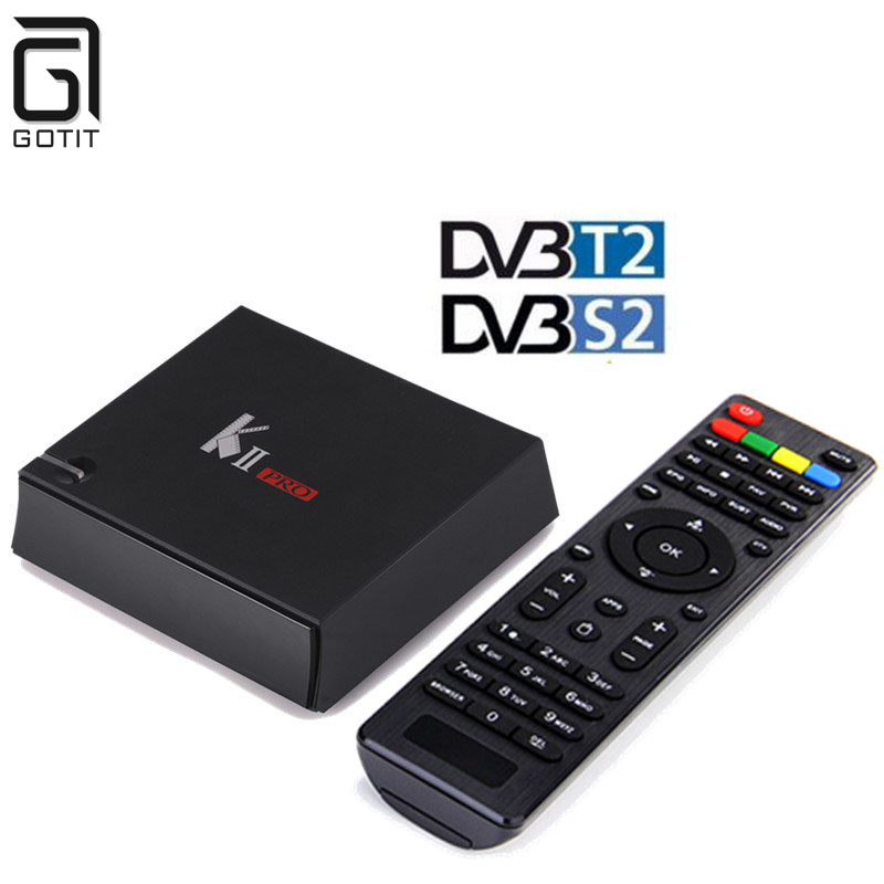 KII Pro Smart Android 5.1 TV Box Amlogic S905 Bluetooth 4.0 Media Player 2G+16G Dual WIFI IPTV DVB-S2 DVB-T2 K2 PRO Set Top Box