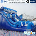 Inflatable Biggors 9*5*5M Inflatable Dolphin Dry Slide For Commercial Use