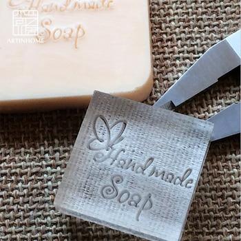 Sello de jabón para jabón Natural hecho a mano diseño de mariposa molde acrílico capítulo
