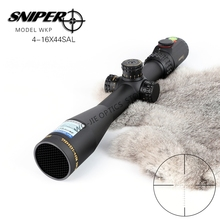 SNIPER 4-16X44 Hunting Riflescopes Tactical Optical Sight Full Size Glass Etched Reticle RGB Illuminated Rifle Scope