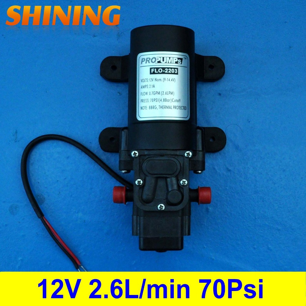 DC 12V 70Psi Thermal Protection Small Mini Micro Diaphragm Water Pump Membrane Pump With Automatic On