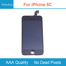 For iPhone 5C LCD Display with Touch Screen Digitizer Assembly Replacement for iPhone5C White No Dead Pixels Grade AAA