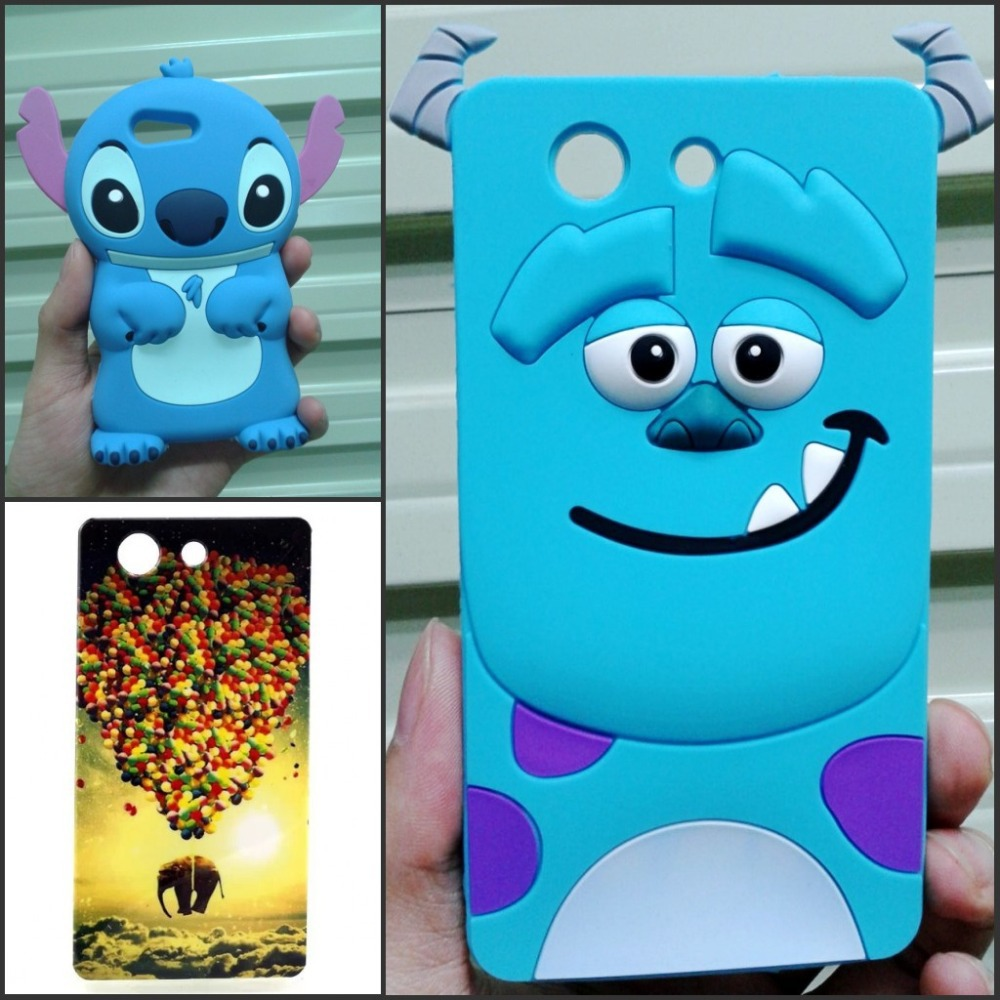 Sony Z3 Compact Case TPU & 3D Cartoon Stitch Sulley Soft Silicon Cover SONY Xperia mini / compact D5803 D5833 - Made In China Centre store