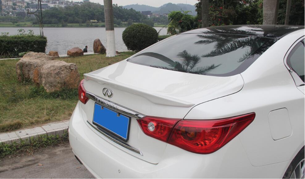 JINGHANG ABS peinture voiture aile arrière coffre lèvre spoiler convient pour Infiniti Q50 Q50L 2014-2016