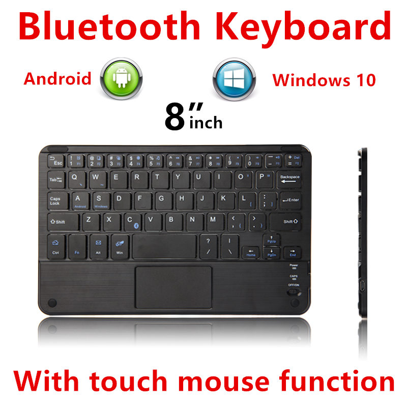 Bluetooth Keyboard For For DELL Venue 8 3830 3840 3845 Tablet PC V8 7000 7840 Wireless keyboard Android Windows Touch Pad Case bluetooth keyboard for teclast p80h x80 pro p89h tablet pc x80 plus x70r wireless keyboard android windows touch pad 8 inch case