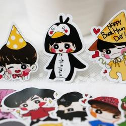 95pcs Creative Cute Self-made exo Q version pretty boys Scrapbooking Stickers /Decorative Sticker /DIY Craft Photo Albums