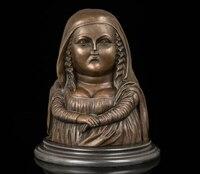 """Art Deco Rzeźba """"Niezwykłe Mona Lisa"""" Tłuszczu Podpisał R0713 Mona Lisa Biust Statua Z Brązu w Posągi i rzeźby od Dom i ogród na"""