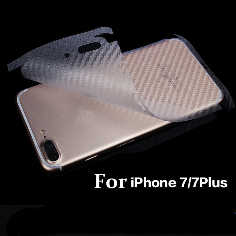 NOTOW (2 pcs / lot)Durable 3D Anti-fingerprint Carbon Fiber Back Stickers Screen Protector Film For iPhone7 8/iphone7Plus 8plus ...