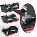New 3pc Aluminum Universal Manual Transmission Car pedal Red and black Non-Slip Brake Pedal Cover Fit for Auto Vehicle YA383
