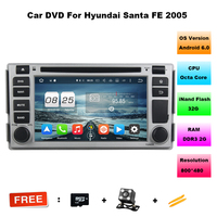 2G 32G Octa Core Android 6 0 Car Dvd Player For Hyundai Santa Fe 2005 In