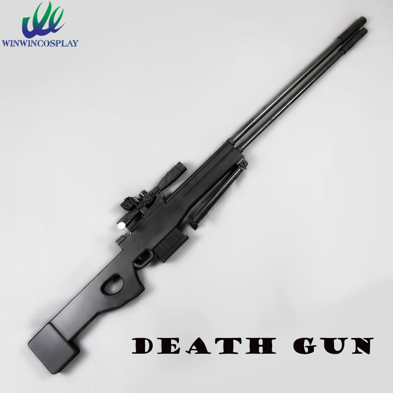 Anime Sword Art Online Death Gun Black Sniper rifle Gun