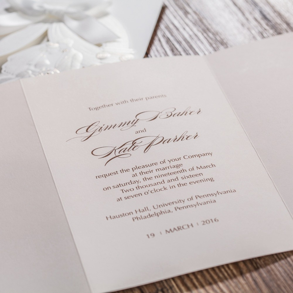 Laser Cut Wedding Invitations Cards Engagement for Marriage Bridal ...