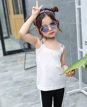 Kids Girls Undershirt Letter Tank Tops For 2-6Y