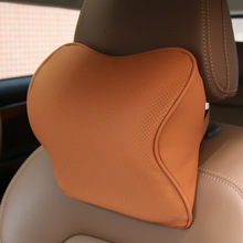 Car Headrest 3D Pillow, Fiber Leather Neck Protection
