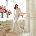 Fashion 2016 New White Tulle Mermaid Wedding Dress vestido de noiva Bridal Gown Robe De Mariage casamento wedding gowns