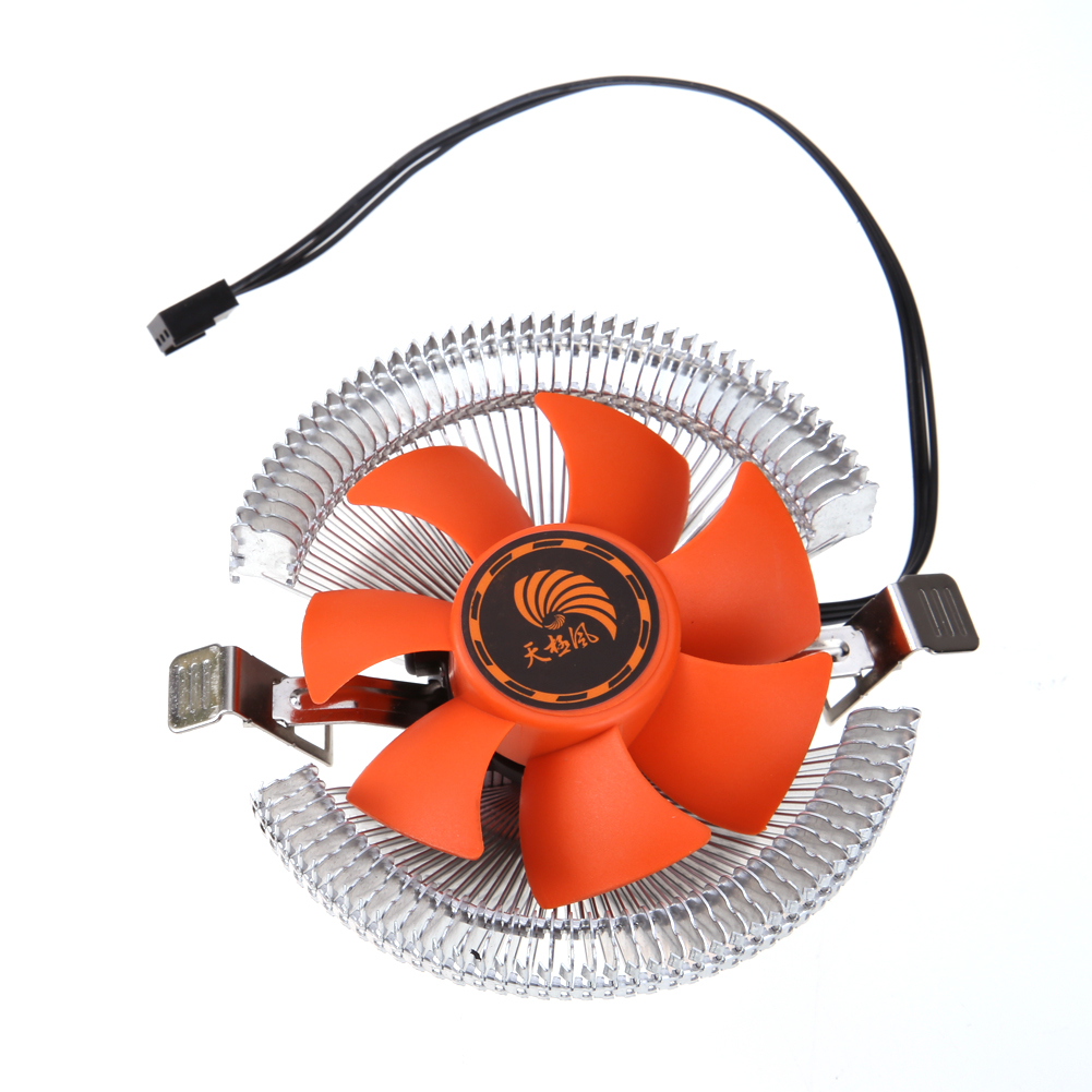 New PC CPU Cooler Cooling Fan Heatsink for Intel LGA775 1155 AMD AM2 AM3 754 CPU Cooling Fans High Quality universal cpu cooling fan radiator dual fan cpu quiet cooler heatsink dual 80mm silent fan 2 heatpipe for intel lga amd