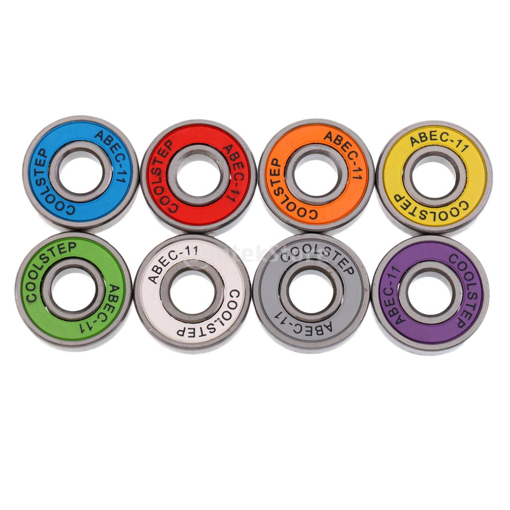 8 Pieces ABEC 11 High Speed Wearproof Skateboard Scooter Inline Bearings