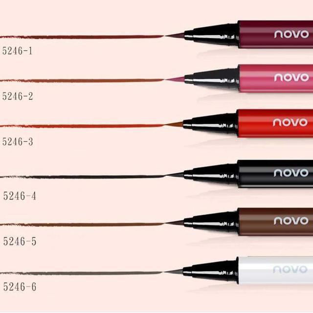 1pcs Eyeliner Waterproof And Sweat Not Dizzy Catch Wine Red Brown Liquid Eyeliner Pen Eye Makeup For Beauty Makeup Beginners 2