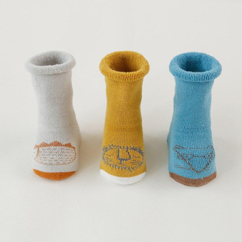 3PCS baby socks toddler high quality plush thick winter warm socks rubber bottom non slip children infant floor socks in Socks from Mother Kids