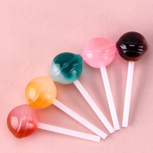 ZOCDOU 1 Piece Delicious Lollipop Colorful Sweet Lolly Candy Gift Ornament Small Statue Little Figurine Crafts Home Deco