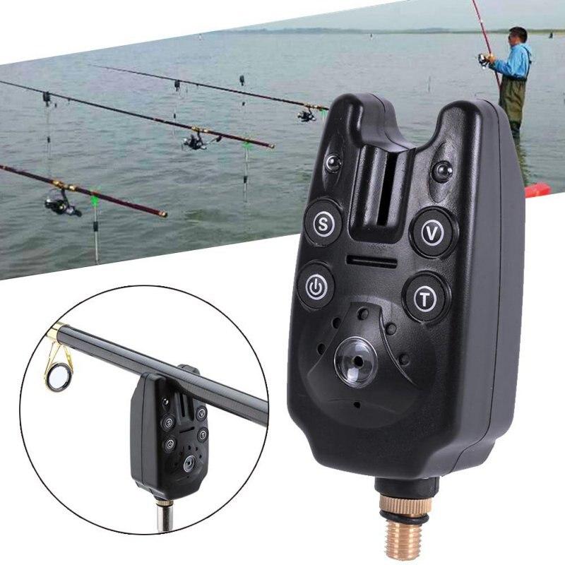 Fishing Bite Alarm With 2 LEDs Blue Light Volume Tone Adjustable Sound Sensitivity Waterproof Fish Bite Alarm Fishing Toolsc