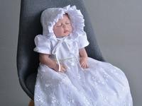 23'' Lifelike Full silicone Reborn Baby Dolls Babies Doll So Truly wedding dress babies doll bebe bonecas hot sale princess