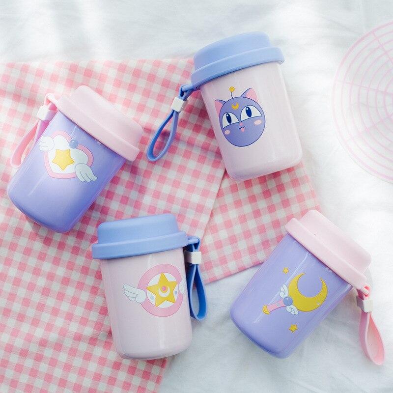 Vacuum-Cup Sakura-Card Sailor Moon Stainless-Steel Luna Cat Soldier Girl Magic-Wand Beautiful