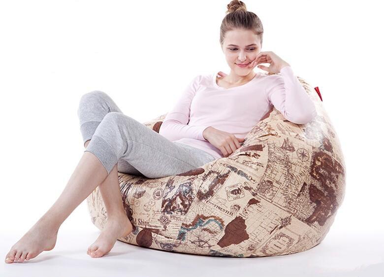 110*90CM beanbag sofa furniture sofas bean bag chair for living room fashion styrofoam artifical leather big beanbag sofas