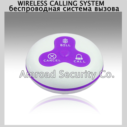 Restaurant Coffee Bar Wireless Calling System Waiter Service Paging System Call Button w 3-press:CALL, BILL, CANCEL  AT-A3-WP