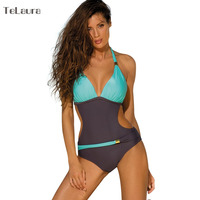 2017 Swimwear Women One Piece Swimsuit Push Up Monokini Thong Cut Off Plus Size Swimwear Beachwear