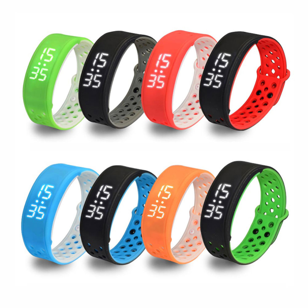 New W9 Waterproof Smartband Wrist Sport Bracelet Pedometer Activity Tracker Blue