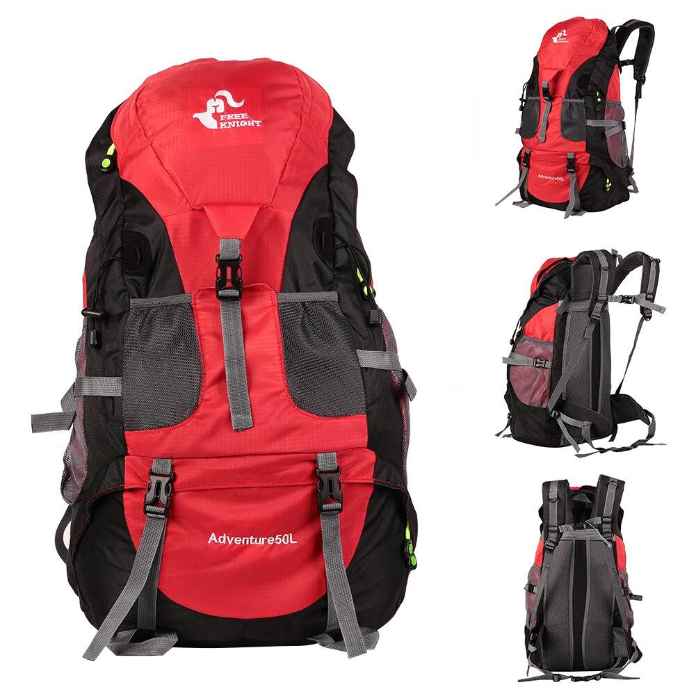 50L открытый рюкзак альпинистская горная походная бейсболка для езды и походов дорожная водонепроницаемая сумка мужской рюкзак; спортивная сумка - Цвет: Red