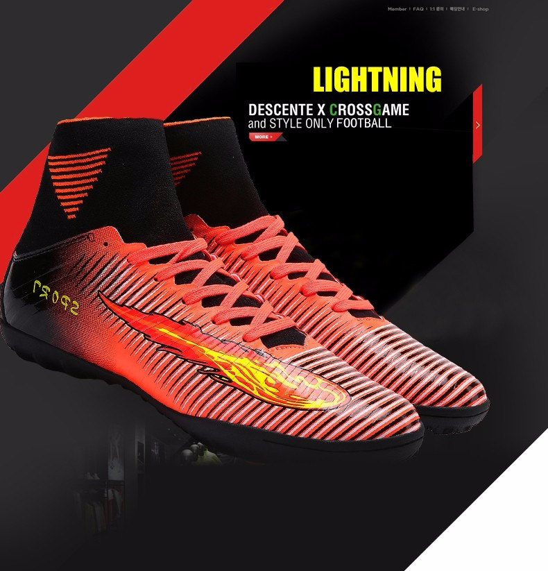 2017 High Quality Cheap Indoor Soccer Shoes Cleats High Ankle Kids Football Boots Superfly Original Boys Girls Sneakers4