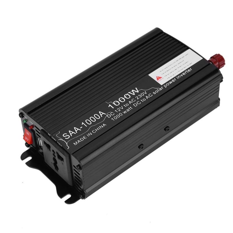 1000W Peak Car Power Inverter DC 12V/24V To AC 220V 50Hz Auto Inverters Cars DC AC Voltage Charger Converter USB ON/OFF Switch car inverter 12v 220v power inverters voltage transformer converter 12 220 1000w charger on display solar adapter 12v 220v dy104