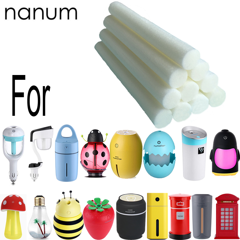 Humidifier Replace wick filter Sponges Refill Sticks for Nanum Car Ladybug lemon Cups Humidifiers Aroma Essential oil Diffuser