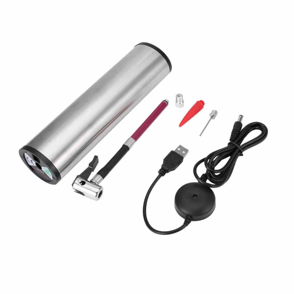 Rechargeable Portable Electric Car Ride Bicycle Pump Tire Tyre Inflator Wheel Mini Air Compressor With LCD Screen Drop Shipping доска гладильная eurogold paris 120 х 38 см