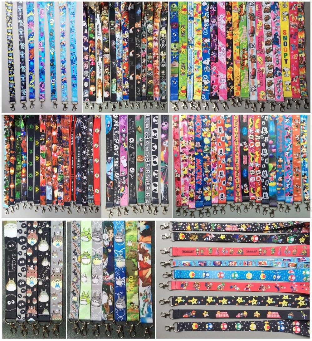 الكثير 100 قطع اليابانية أنيمي الكرتون لون المزيج الرقبة الأشرطة اسهم الهاتف المحمول ، بطاقة الهوية ، مفتاح سلسلة للأطفال حزب هدايا Mm 07-في سلاسل المفاتيح من الإكسسوارات والجواهر على  مجموعة 2
