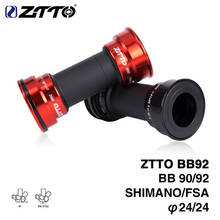 ZTTO BB90 BB92 BB86 Bottom Brackets MTB Mountain Road Bicycle for Shimano Prowheel 24mm Crankset Chainset